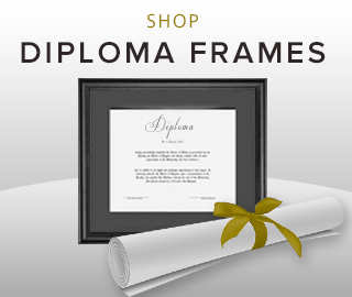 Picture of a diploma and diploma frame. Click to shop for diploma frames.